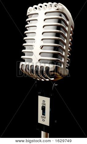 Vintage Microphone In 3D