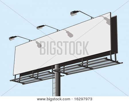 Outdoor advertising construction. Vector illustration.