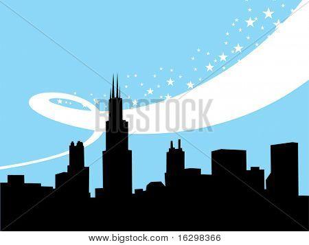 Chicago Winter Hintergrund