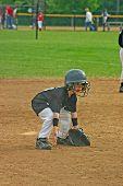 Постер, плакат: Бейсбол игры мальчик