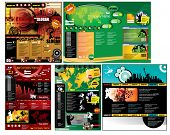 Modern web page layout design