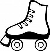 pic of roller-skating  - roller skates - JPG