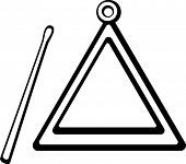 picture of idiophone  - triangle instrument - JPG