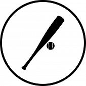 baseball bat and ball symbol