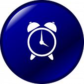 stock photo of early morning  - alarm clock button - JPG