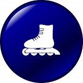 image of roller-derby  - inline roller skate button - JPG