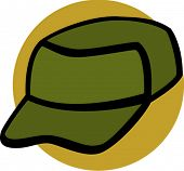 stock photo of army cadets  - cadet cap - JPG