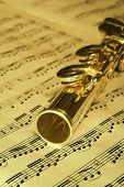 Gold Flute - Music Concept Background
