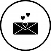picture of long distance relationship  - love letter symbol - JPG