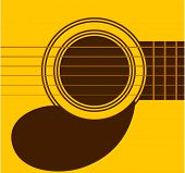 picture of acoustic guitar  - guitar sound hole - JPG