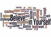 Believe In Yourself, Word Cloud Concept 3 poster