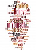 Believe In Yourself, Word Cloud Concept 4 poster