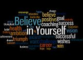 Believe In Yourself, Word Cloud Concept 5 poster