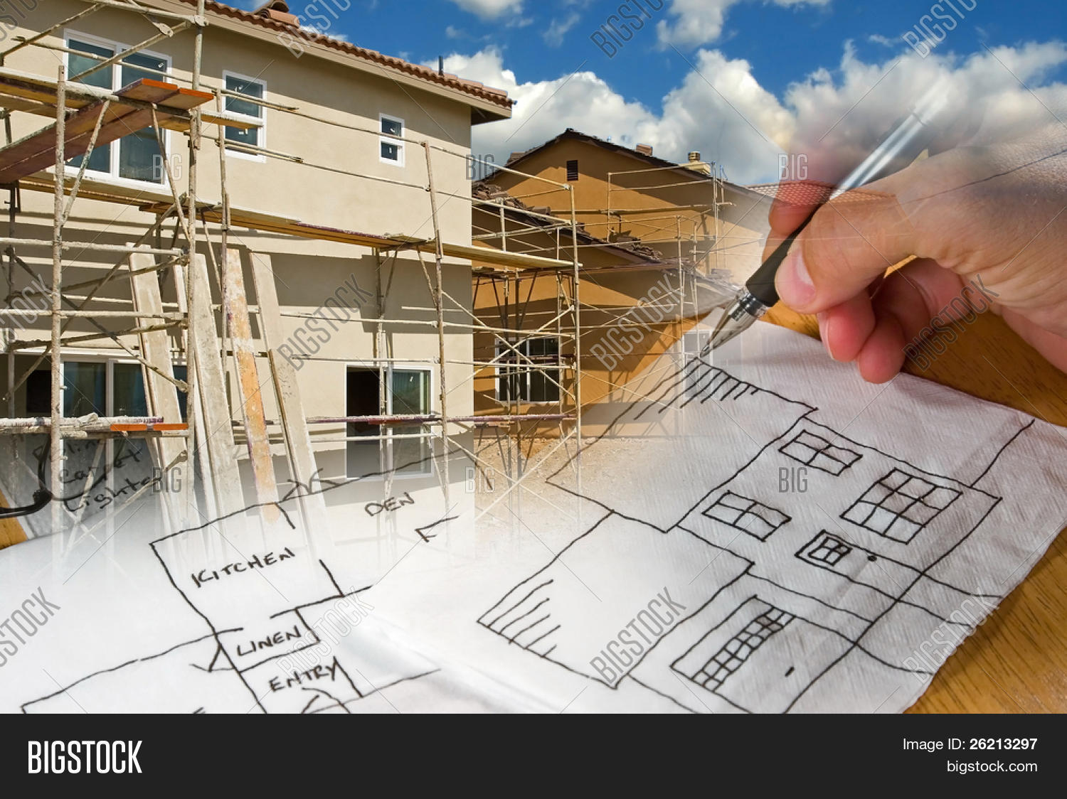 Ready use construction image photo bigstock for Architecture drawing 500 days of summer
