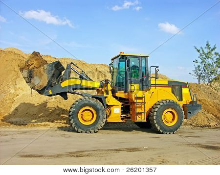 Backhoe loader at work