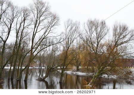View Of The River Mukhavets In Brest Fortress