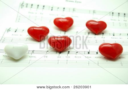 Heart Shape Marble on Music Note