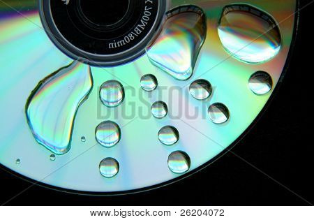Wet CD, conceptual of corrupted data