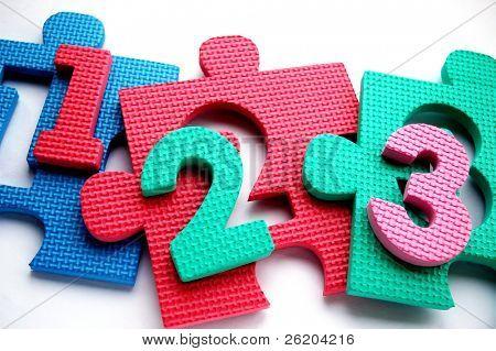 123 auf Puzzle-Matte