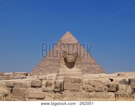 Sphynx And Giza Pyramid