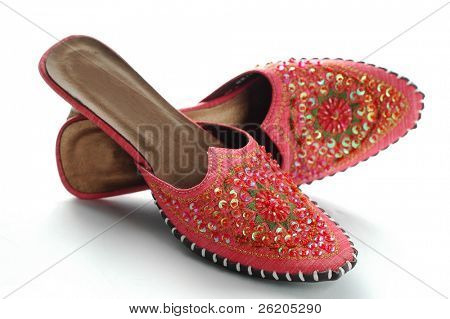 Pink oriental sandal