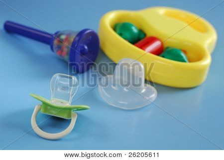 Pacifier and toys