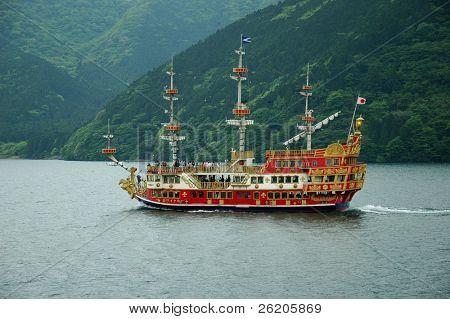 Sightseeing ship in Hakone, near Tokyo