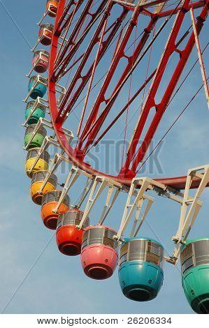 Colorful Ferris Wheel in Tokyo