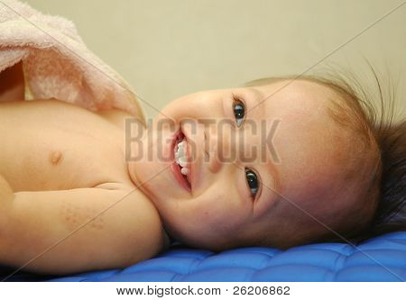 Baby giggling