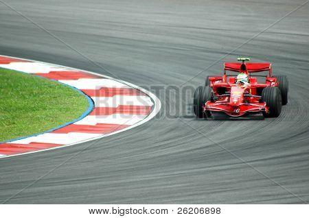 Kimi Raikkonen, el campeón de 2008 F1 Gran Premio Malasia