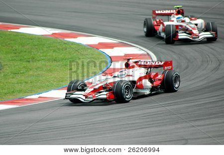 Honda F1 Team in actions