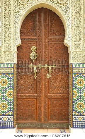 Moroccan entrance door way