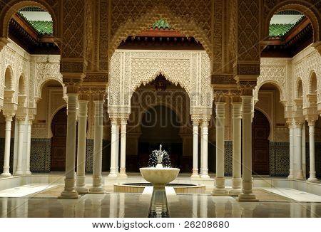 Interiores de la arquitectura marroquí