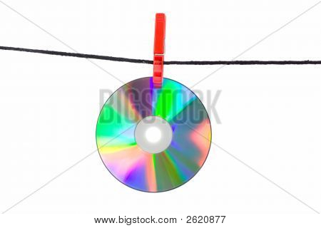 Cd On Clothes Line 2