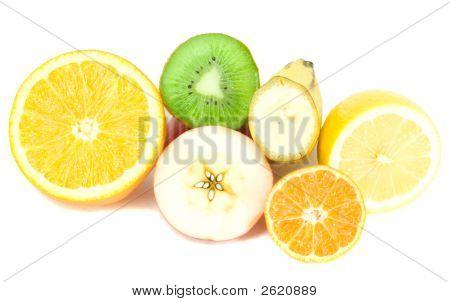 Many Half Part Fruits