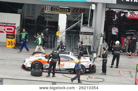 SEPANG, MALAYSIA - JUNE 20 : Pit Stop Crews do inspection during the Super GT International Series, Round 4 on June 20, 2010 in Sepang International Circuit, Malaysia.