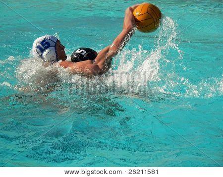 Wasser Polo Spiel Verteidigung