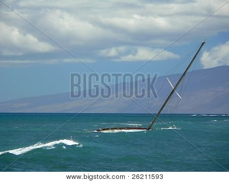 Sunken Sailboat
