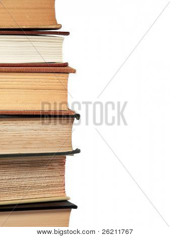 Stacked Library Reference Books