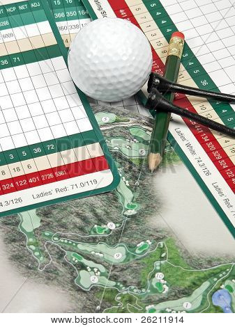 Golf Scorecard & Items