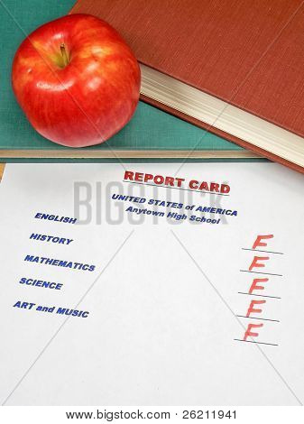 Grading Papers for School - USA Report Card