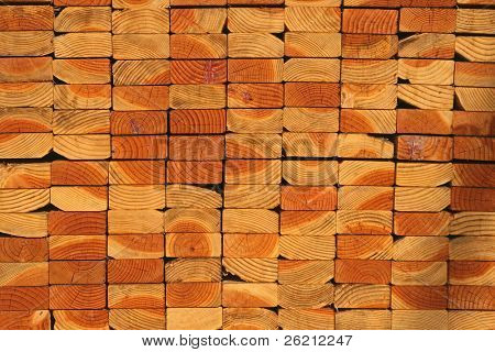 Lumber Stack on Construction Site