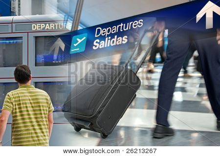 Ready-to-use Travel and Airport themed montage of images
