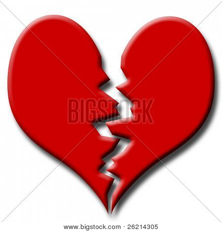St Valentine's Day Broken Red Heart