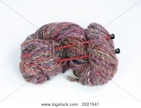 Colorful hank of yarn