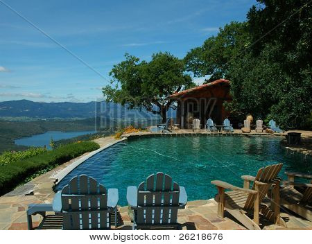 pool with a view at Kuleto estate in Napa valley