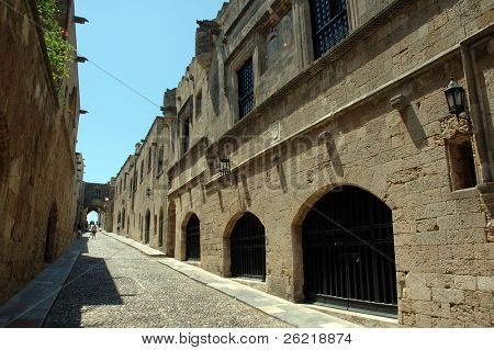 Rhodes-street of the embassy's