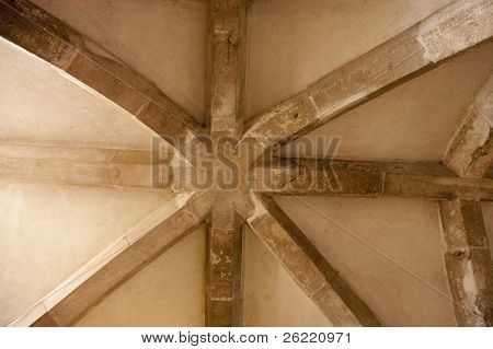 Structural detail of ceiling in Lulworth castle