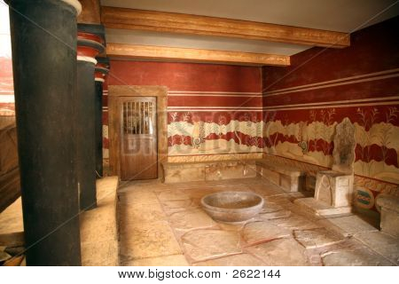 Kreta Knossos Thronsaal
