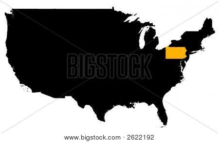Pennsylvania Location Map (Usa)